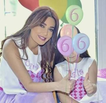 سيرين عبد النور تحتفل بعيد ميلاد ابنتها...بالصورة