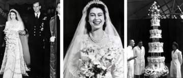 في عيد زواجها السبعين..تعرفوا على تفاصيل فستان زفاف الملكة إليزابيث