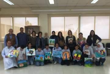 ملتقى الالوان الفني يشارك بنشاط رسم مع ذوي الاجتياحات الخاصة..بالصور