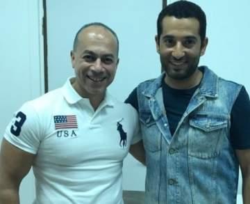 عمرو سعد وتامر مرسي يحتفلان بالانتهاء من التصوير!