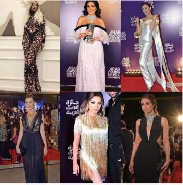 إطلالات النجمات في جائزة الموسيقى العربية بين الأجمل والأقل أناقة