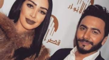 هذا ما جمع ملكة جمال العرب وتامر حسني.. بالصور