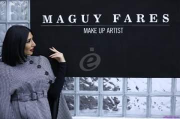 خاص بالصور- ماغي فارس تنثر إحترافها في عالم الماكياج في مركزها الجديد