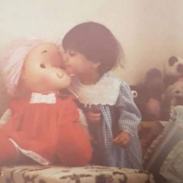 أسيل عمران في طفولتها...بالصورة