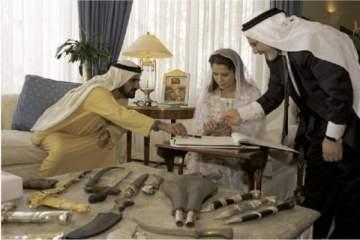 صور نادرة من عقد قران حاكم دبي على الأميرة هيا