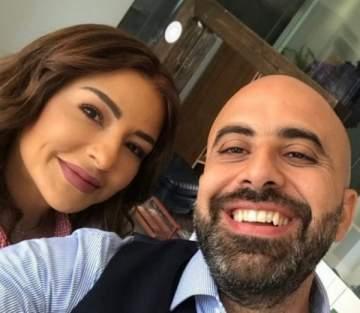 هشام حداد وماغي بوغصن في كواليس فيلم حبة كاراميل- بالصورة