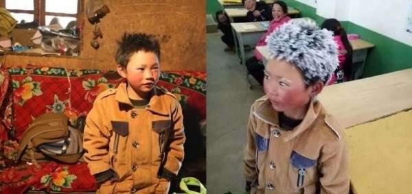 طفل يصل إلى مدرسته بشعر متجمّد والسبب غريب