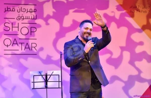 رامي عياش قيمة مضافة في ختام مهرجان قطر للتسوّق..بالصور