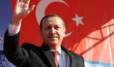 أردوغان: تركيا تنتظر 40 مليون سائح خلال 2018