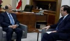 """الرئيس عون عرض مع السفير الفرنسي في لبنان نتائج مؤتمر """"سيدر"""""""