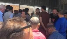 """اعتصام لموظفي شركة """"فانتازيا"""" بعد طردهم تعسفيا امام الشركة في الشويفات"""