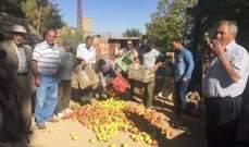 بدء تحرّك مزارعي التفاح للمطالبة بدفع التعويضات لهم