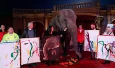 المجر: بيع لوحات من صنع أنثى فيل هندية في مزاد