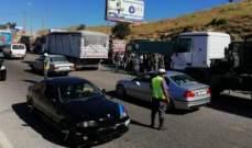 اعتصام لأصحاب الشاحنات المتوسطة على طريق ضهر البيدر لهذا السبب..!