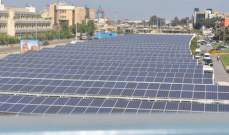 الكھرباء المُنتَجَة عبر الطاقة الشمسيّة في لبنان عند 0.035 تيراواط/ساعةمن مجموع إنتاج كھرباء لبنان في 2016