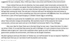 """نصائح من طفلة لمؤسس """"تيسلا""""عن كيفية إدارة أعماله..والمدير التنفيذي يرد"""