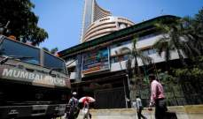 """الأسهم الهندية تتراجع ومؤشر """"نيفتي 50"""" يهبط نسبة 1.56%"""