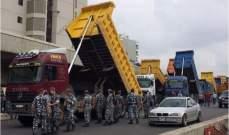 اعتصام لاصحاب الشاحنات في عدد من المناطق اللبنانية