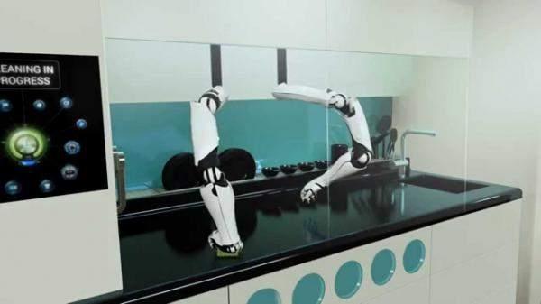 """بالفيديو .. """"شيف روبوت"""" يحضّر لك الطعام ويقوم بكل أعمال المطبخ !!"""