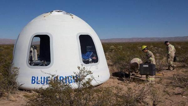 بالفيديو: رحلة سياحية إلى الفضاء على متن كبسولة بلو أوريجين!