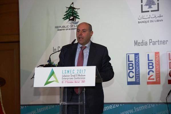 """ممثل خليل في مؤتمر """"LSMEC 2017"""": الاقتصاد اللبناني يقومُ على المؤسسات المتوسطة والصغيرة"""