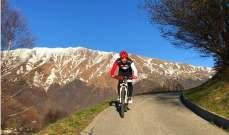 فرناندو الونسو على الدراجة الهوائية