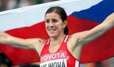 التشيكية هاينوفا تفوز بذهبية 400 متر حواجز