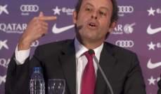 الادعاء العام الإسباني يطالب بسجن رئيس برشلونة السابق