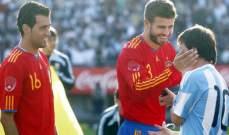 ميسي يتمنى عدم مواجهة اسبانيا في كاس العالم