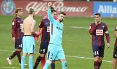 مساعد مدرب ايبار : فريقنا هزم برشلونة