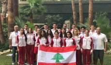 بعثة السباحة الى بطولة العرب للناشئين