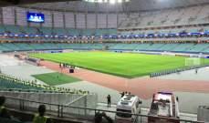اكتمال التحضيرات في ملعب مباراة كارباخ واتلتيكو مدريد