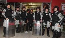 والكوت يقضي ليلته مع شرطة مكافحة الشغب