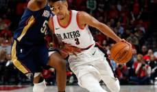 NBA PLAYOFFS: نيو اورلينز يتقدم بمباراتين في السلسلة على بورتلاند