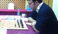 فيصل خيرالله يتصدر ترتيب بطولة لبنان لفردي الرجال للشطرنج