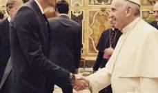ماريو غوميز يلتقي بابا الفاتيكان