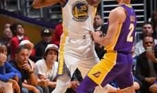 NBA: الواريرز يكسر الضغط المفروض عليه بعد فوزه على لوس انجلوس ليكرز
