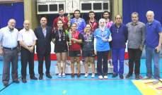 اختتام بطولة لبنان في كرة الطاولة: لقب الرجال للبوبو والسيدات لسهاكيان