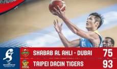 اندية اسيا : داسين تايغرز التايواني يتخطى الشباب الاهلي دبي بسهولة