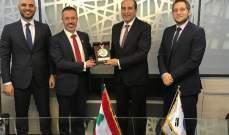 اجتماع بين رئيس اتحاد التايكواندو مع السفير اللبناني في كوريا الجنوبية