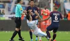 نيمار يطرد من مباراة مارسيليا