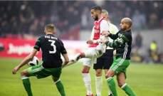 الدوري الهولندي : اياكس يحسم قمة الاسبوع أمام فينورد