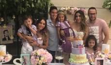 أوسبينا يحتفل بعيد ميلاد إبنته مع رودريغيز