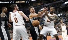 NBA: كليفلاند يسقط امام السبيرز واوكلاهوما يتخطى بروكلين