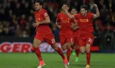 البريمرليغ : ليفربول يتمسك بالمركز الثالث بفوز مستحق امام واتفورد