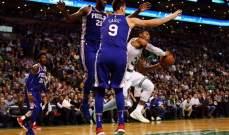 NBA :  فيلادلفيا سفنتي سيكسرز يفوز على بوسطن سيلتيكس