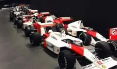 سيارات مكلارين في مقر الفريق الرسمي