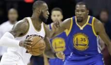 NBA: الواريرز يجدد فوزه على كليفلاند وويستبروك يتفوق على هاردن