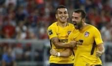 عقوبة الايقاف 9 مباريات بحق لاعب اتلتيكو مدريد