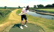 بايل يقضي وقت ممتع في ملعب الغولف